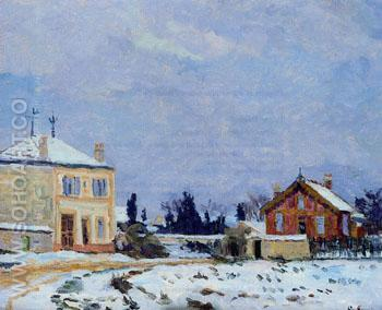 Snow 1876 - Armand Guillaumin reproduction oil painting