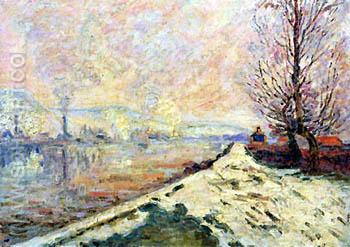 Snowmelt in Rouen 1901 - Armand Guillaumin reproduction oil painting