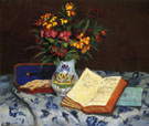 Still Life with Box with Blue Gloves 1873 - Armand Guillaumin reproduction oil painting