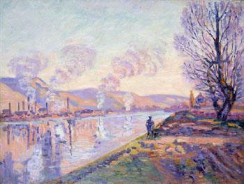 Stoppenbach and Delestre la Seine en Amont de Rouen - Armand Guillaumin reproduction oil painting