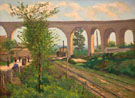 The Arcueil Aqueduct at Sceaux Railroad - Armand Guillaumin reproduction oil painting