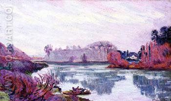 The Banks of The Mame Winter - Armand Guillaumin reproduction oil painting