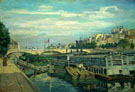 The Bridge of Louis Philippe 1875 - Armand Guillaumin reproduction oil painting
