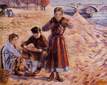 The Little Thieves 1885 - Armand Guillaumin reproduction oil painting