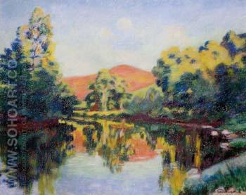 The Pink Mountain - Armand Guillaumin reproduction oil painting