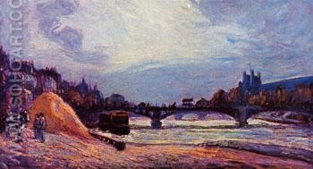 The Pont des Arts 1878 - Armand Guillaumin reproduction oil painting