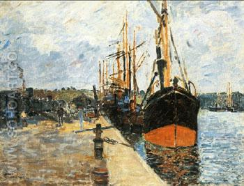 The Quay at Rouen 1882 - Armand Guillaumin reproduction oil painting