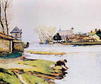 The Resevoir at Poitiers - Armand Guillaumin reproduction oil painting
