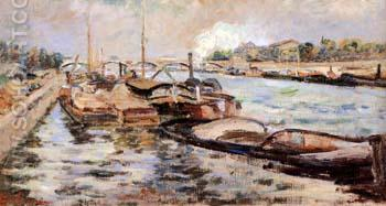 The Seine 1867 - Armand Guillaumin reproduction oil painting