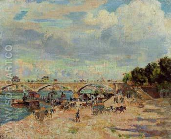 The Seine at Charenton c1880 - Armand Guillaumin reproduction oil painting