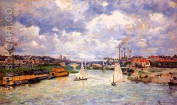 The Seine River at Charenton 1878 - Armand Guillaumin reproduction oil painting