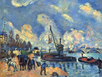 The Seine at Bercy - Armand Guillaumin reproduction oil painting