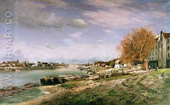 The Old Quay at Bercy - Armand Guillaumin reproduction oil painting