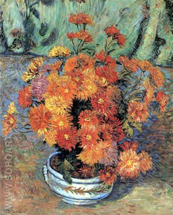 Vase Mit Chrysanthemen - Armand Guillaumin reproduction oil painting