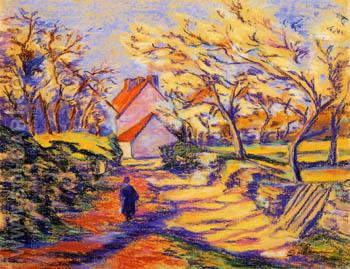 Village Street - Armand Guillaumin reproduction oil painting