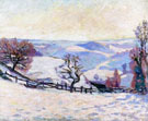 White Frost at Puy Barriou - Armand Guillaumin reproduction oil painting