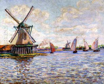 Windmills in Holland - Armand Guillaumin reproduction oil painting