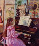Young Girl at Piano - Armand Guillaumin