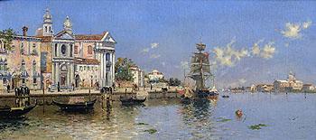 A Memory of Venice - Antonio Maria De Reyna Manescau reproduction oil painting
