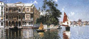 A View of the Plazzetta Vice - Antonio Maria De Reyna Manescau reproduction oil painting