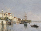 A View of Venice B - Antonio Maria De Reyna Manescau reproduction oil painting