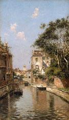 Canal in Venice - Antonio Maria De Reyna Manescau