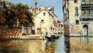 Venetian Canal Scenes A - Antonio Maria De Reyna Manescau