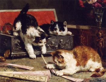 Mischief 1900 - Charles Van Den Eycken reproduction oil painting