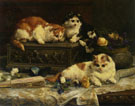 The Three Kittens 1893 - Charles Van Den Eycken