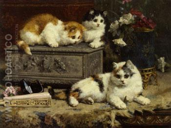 Up To No Good 1892 - Charles Van Den Eycken reproduction oil painting