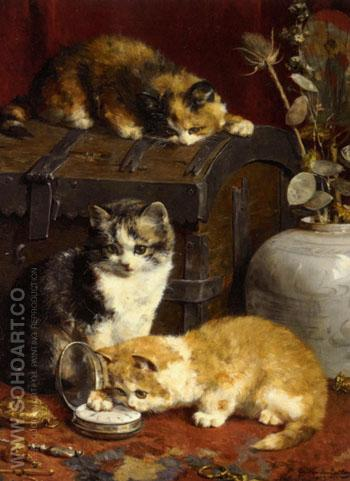 What Time Is It 1903 - Charles Van Den Eycken reproduction oil painting
