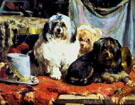 Chien Delions - Charles Van Den Eycken reproduction oil painting