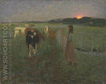 Changing Pastures 1893 - Edward Stott reproduction oil painting