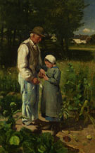 In the Fields 1882 - Edward Stott reproduction oil painting