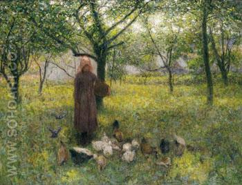 In the Orchard c1892 - Edward Stott reproduction oil painting