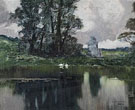 Swans on a Pond - Enrique Serra Y Auque
