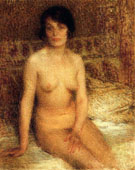 A Seated Nude - Ernest Joseph Laurent reproduction oil painting