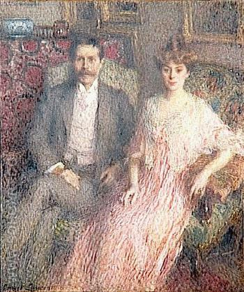 Monsieur et Madame Paul Jamot 1907 - Ernest Joseph Laurent reproduction oil painting