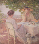 Two Woman on the Terrace 1922 - Ernest Joseph Laurent
