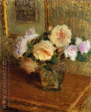 Vase of Roses 1918 - Ernest Joseph Laurent reproduction oil painting