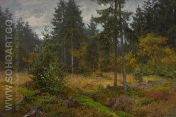 Waldlichtung - Fritz Freund reproduction oil painting
