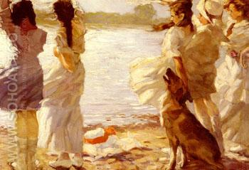 Childhood Wind and Waves 1914 - Guido Paul Richter reproduction oil painting