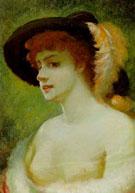 Portrat Einer Vornehmen Dame Mit Modischem Hut 1891 - Guido Paul Richter reproduction oil painting