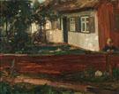 Bauernhaus Mit Junge 1900 - Hans Looschen reproduction oil painting
