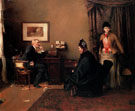 The Afternoon Visitors 1889 - Hans Looschen reproduction oil painting