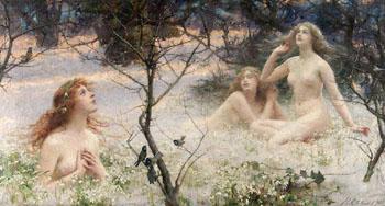 Springs Awakening the Snow Maidens - Henrietta Rae reproduction oil painting