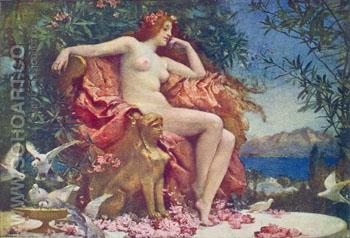Venus Enthroned 1902 - Henrietta Rae reproduction oil painting