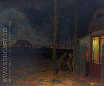In the Night - Henry Bouvet reproduction oil painting