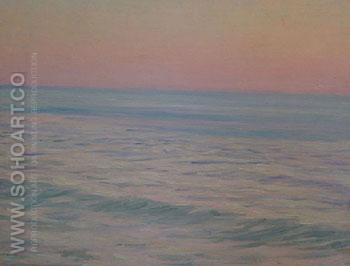 Seascape at Dawn c1900 - Henry Bouvet reproduction oil painting