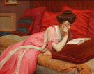 The Artists Wife Reading - Henry Bouvet